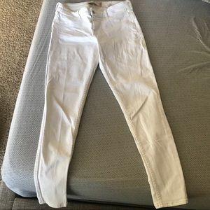 Hollistier white skinny jeans